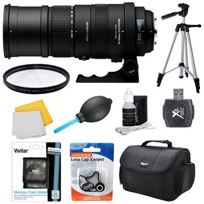 150-500mm F/5-6.3 APO DG OS HSM Autofocus Lens For Sony - Lens Kit Bundle