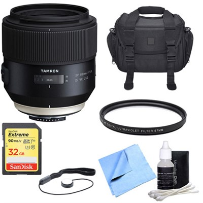 SP 85mm f1.8 Di VC USD Lens for Sony A-Mount with 32GB Bundle