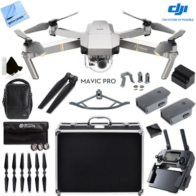 Mavic Pro 4K Camera Quadcopter Drone Fly More Combo 2 More Batteries Ultra Kit