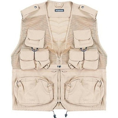 Combat Tactical Vest Khaki Large