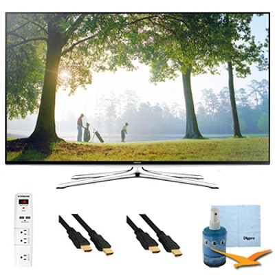 48-Inch Full HD 1080p Smart HDTV 120Hz Wi-Fi Plus Hook-Up Bundle - UN48H6350