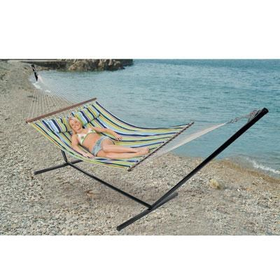 Double Cotton Hammock with Stand - 30900