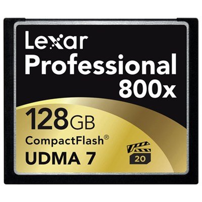 2 PACK 128 GB Platinum II 800x Compact Flash Memory Card with Jewel Case