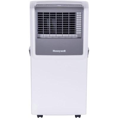 MP08CESWW 8,000 BTU Portable Air Conditioner w/ Front Grille&Remote, White/Grey