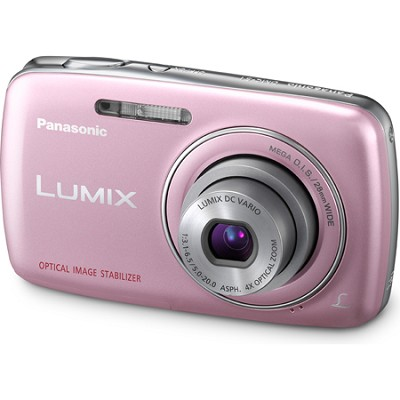 Lumix DMC-S1 12MP Compact Pink Digital Camera w/ 720p HD Video
