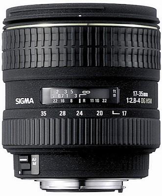 Super Wide Angle Zoom 17-35mm f/2.8-4.0 EX DG Aspherical HSM AF Lens for Nikon