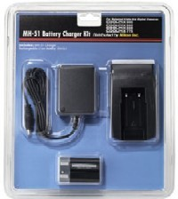 MH-51 Battery Charger and EN-EL1 Rechargeable Li-Ion Battery Kit