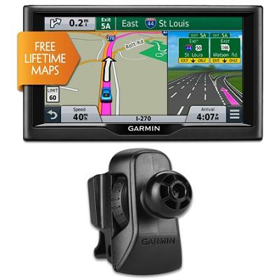 nuvi 67LM 6` Essential Series 2015 GPS System w Lifetime Maps Vent Mount Bundle