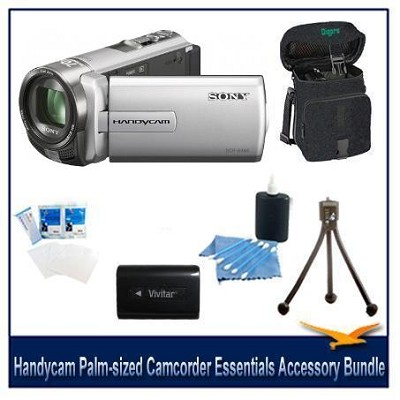 DCR-SX65 Handycam Silver 4GB Camcorder with Spare Batt, Case, and more