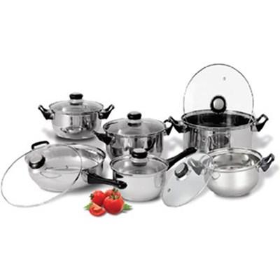 12 Piece Stainless Steel Cookware Set CS20100