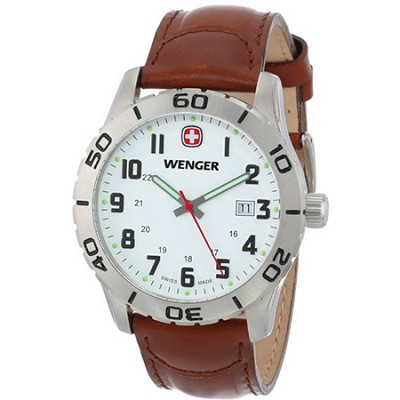 Swiss Men's 741.101 Analog Swiss-Quartz Brown Watch