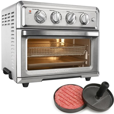 Convection Toaster Oven Air Fryer w/ Light Silver + Burger Patty Maker
