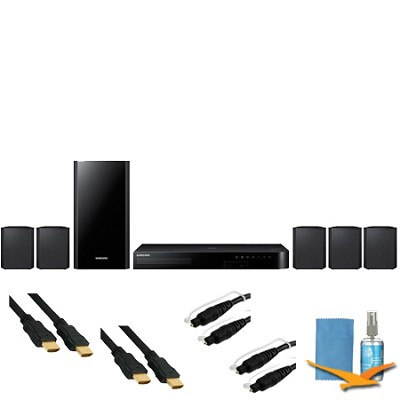 5.1ch Home Theater System with Smart 3D Blu-ray Player & Hook-Up Bundle HTH4500
