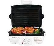 White Contact Grill and Griddle with Removable Grids and Timer