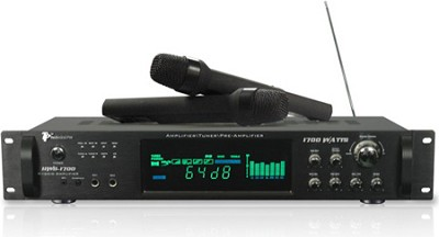 HWB1700 Digital Amplifier with AM/FM Tuner & Two Wireless Microphones