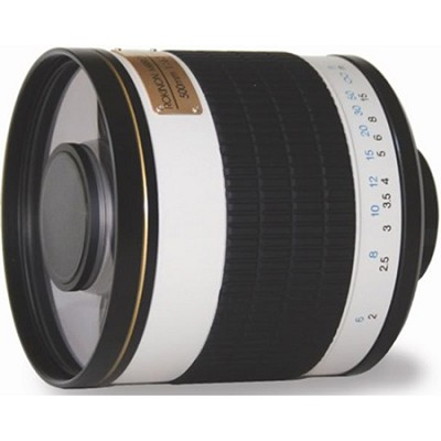 ED500M - 500mm f/6.3 Multi-Coated ED Mirror Lens (White)