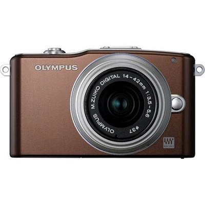 E-PM1 Brown w/14-42mm Lens