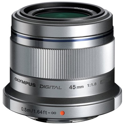 M. Zuiko Digital ED 45mm f/1.8 Lens for Micro Four Thirds Cameras (Silver)