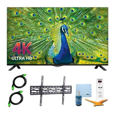 49UB8200 - 49-inch 4K Ultra HD Smart LED TV Plus Tilt Mount & Hook-Up Bundle
