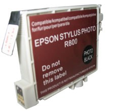 Replacement Ink Cartridge (Black) for Epson Stylus R800/R1800