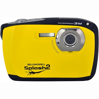Splash II 16MP Waterproof Digital Camera 2.5` LCD HD Video (Yellow)(WP16-Y)