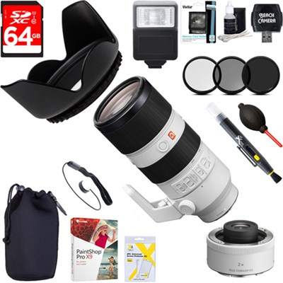 FE 70-200mm F2.8GM OSS E-Mount Lens with 2.0X Teleconverter Lens Bundle
