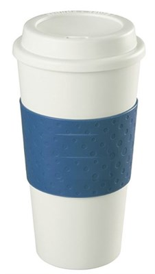 16-Ounce Capacity Reusable To Go Mug - Blue