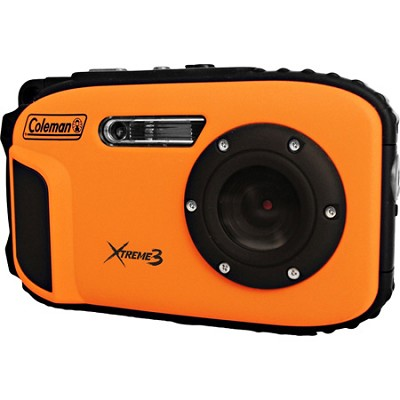 C9WP Xtreme3 20MP Waterproof Orange Digital Camera with Full 1080p HD Video