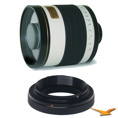800mm F8.0 Mirror Lens for Olympus / Panasonic (White Body) - 800M