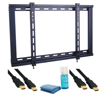 5 Piece Slim Mounting Kit for 23`-42` HDTV's 1 Bracket, 2 Cables, 1 Cleaner