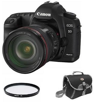 EOS 5D Mark II 21.1MP Full Frame CMOS SLR Camera with EF 24-105mm f/4 L IS Lens