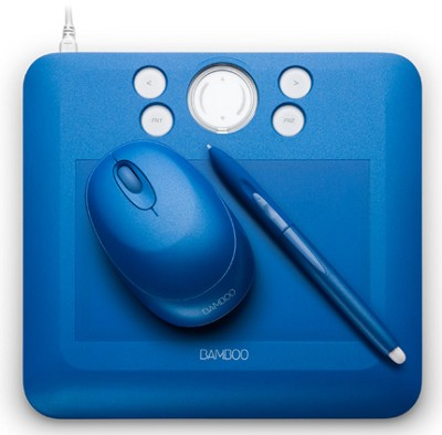 Bamboo Fun Small Blue Tablet