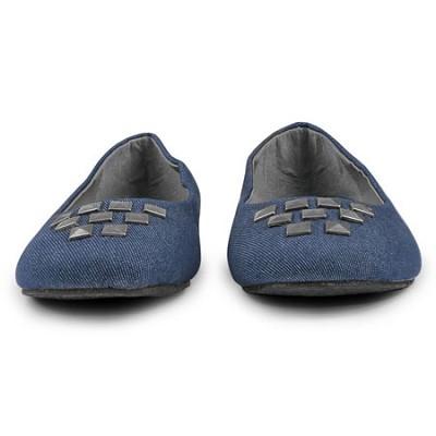 Denim Flat Womens Shoe Size 10