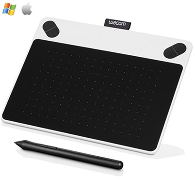 CTL490DW Intuos Draw Creative Pen Tablet - Small White-Certified Refurbish