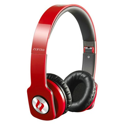 ZORO HD True Sound Headphones with Inline Mic and Answer/End Button Red