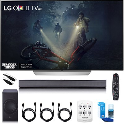 65` C7 OLED 4K HDR Smart TV - OLED65C7P w/LG SJ8 Sound Bar Bundle