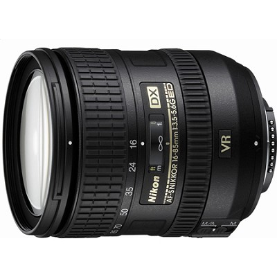 AF-S DX NIKKOR 16-85mm f/3.5-5.6G ED VR Lens - Factory Refurbished