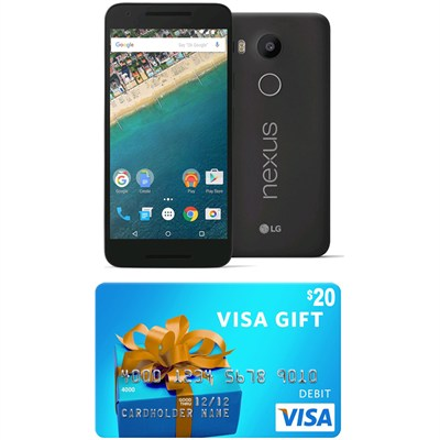 H790 Google Nexus 5X 32GB Unlocked Smartphone - Carbon (Gift Card Promo Expired)