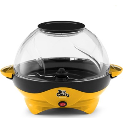 82310Y Stir Crazy 2 Popcorn Popper - Yellow - OPEN BOX