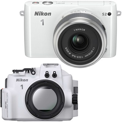 1 S2 Mirrorless White Digital Camera w/ 11-27.5mm Lens Underwater Housing Bundle