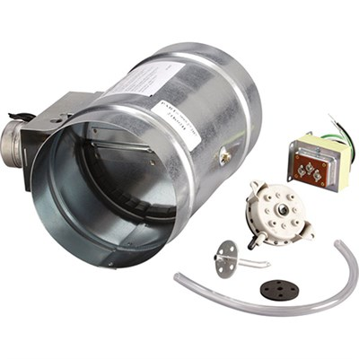 8` Universal Automatic Make-Up Air Damper with Pressure Sensor Kit - MD8TU