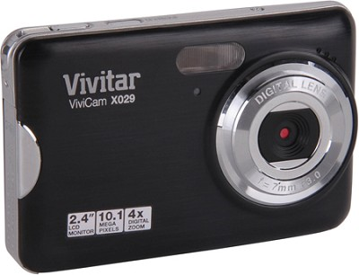 ViviCam VX029 10.1 MP HD Digital Camera (Black)