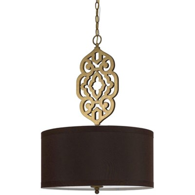 Grill Pendant in Satin Brass - 8422-4H