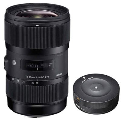 AF 18-35MM F/1.8 DC HSM Lens for Sony with USB Dock for Sony Lens