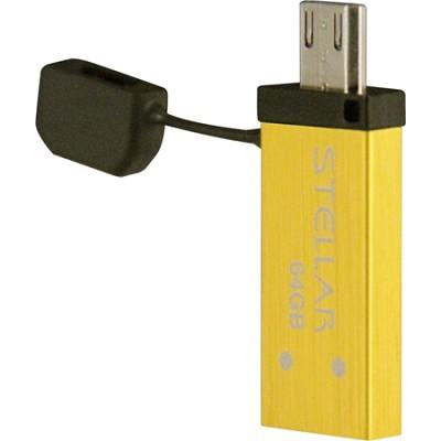 Stellar 64GB USB/Micro USB Flash Drive
