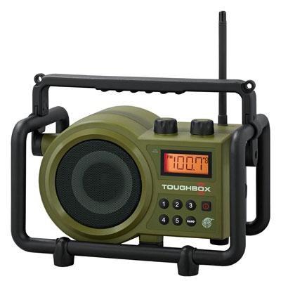 Ultra Rugged Digital Tuning Rechargeable Radio Green - TB-100 - OPEN BOX