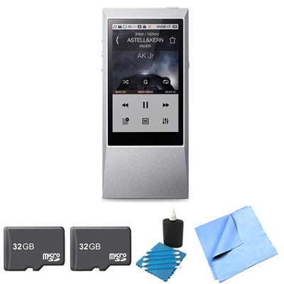 AK Jr. Hi-Res 64GB Music Player 32GB Memory Card 2-Pack Bundle