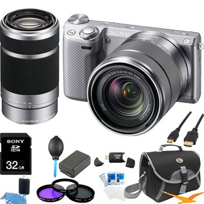 NEX-5RK/S Compact Camera with 18-55 + SEL 55-210 Ultimate Bundle