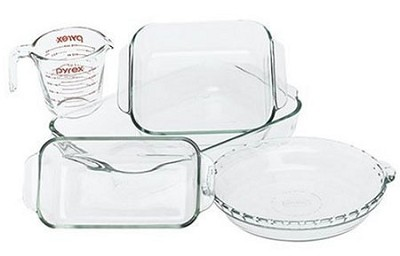 Bakeware 5-Piece Baking Dish Set, Clear