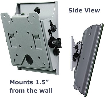Flat + Tilt Smart Mount  for 10` to 24` LCDs (Silver) - OPEN BOX